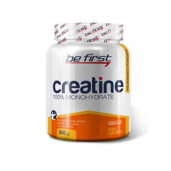 Be First Creatine powder 300 гр, апельсин